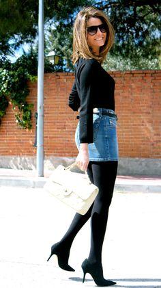 Pantyhose Fashion, Pantyhose Outfits, Fashion Tights, Tights Outfit, Skirt Fashion, Fashion Outfits, Womens Fashion, Steampunk Fashion, Gothic Fashion