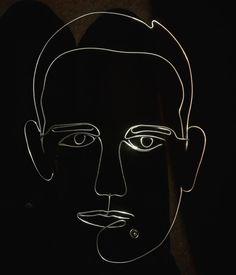 wire portrait in the making |  web: www.artbending.ro  #wireart