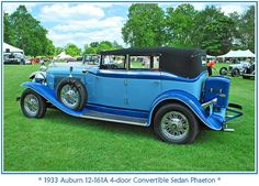 1933 Auburn V-12 4-door Convertible Sedan Phaeton