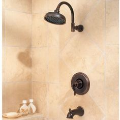 $260 in rustic bronze (brown); $308 in Tuscan Bronze (blackish) Wayfair - Ashfield Single Handle Tub and Shower Trim