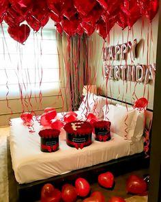 How to decorate bedroom for valentine romantic night 5 - Tabea Romantic Room Surprise, Romantic Birthday, Romantic Night, 21st Birthday, Birthday Room Surprise, Birthday Surprises, Romantic Picnics, Birthday Ideas, Romantic Room Decoration