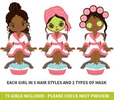 Kids Birthday Themes, Girl Birthday, 11th Birthday, Birthday Celebration, Birthday Parties, African American Girl, American Art, Girl Spa Party, Home Spa Treatments