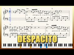 """""""Despacito"""" - Piano Tutorial + Free Sheet Music with lyrics - Luis Fonsi We Dont Talk Anymore, Castle On The Hill, Music Link, Piano Tutorial, Piano Cover, Free Sheet Music, Daddy Yankee, Music Lyrics, Songs"""