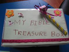 """Sola Gratia Mom: Favorite Bible Study for Kids! -- """"Bible Box""""/""""Sabbath Box"""" - prepare a box full of special crafts, activities, stories, etc. for each Sabbath to help make it special. Bible Study Crafts, Family Bible Study, Bible School Crafts, Bible Study For Kids, Kids Bible, Sunday School Curriculum, Sunday School Projects, Sunday School Lessons, School Ideas"""