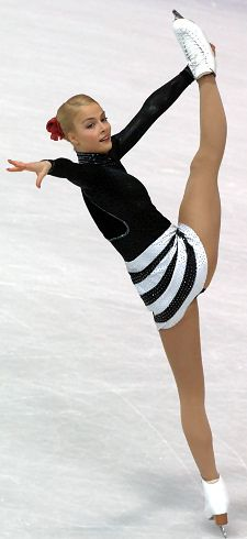 Kiira Korpi (Finland) competing at the 2007 Ladies European Figure Skating Championships.