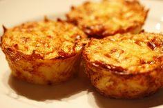 Kruidige aardappelmuffins Healthy Dessert Recipes, Healthy Chicken Recipes, Veggie Recipes, Cooking Recipes, Potato Recipes, Potato Muffins Recipe, Vegan Fish, Good Food, Yummy Food