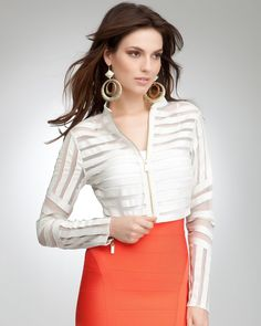 10. a chic jacket or cover-up {bebe Chevron Leather & Mesh Jacket} #bebe #wishanddreams