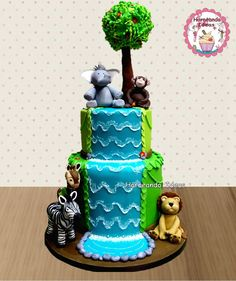 Tarta Animales. Horneando Ideas. www.horneandoideas.com Ideas, Creativity, Tarts, Sweets, Animales, Recipes, Thoughts
