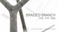 This video shows biomechanical investigation-methods for branched plant samples and the concept, design and fabrication of a novel braided CFRP-concrete composite as branched structural element for architectural applications.  The Large scale demonstrator is being exhibited as part of the BauBionik Exhibition in Schloss Rosenstein at the Museum for Natural History Stuttgart, Germany.