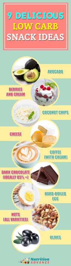 A-Z Guide to LCHF - Snacks! This infographic is from the 'S' section of the A-Z guide t LCHF. What are some great healthy snack ideas for low carb and keto diets? Here are 9 of them and they are all nutritious and very delicious too! From the article at http://nutritionadvance.com/lchf-resource