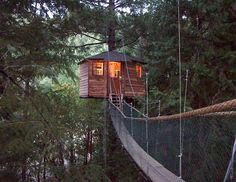 "Bucket List - Vacation in a Tree House. Oregon-based ""Treehous Treesort' $120 and up per night"