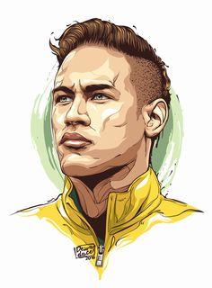 Spark Apparel New Paris Soccer Shirt Neymar Jr. Football Player Drawing, Soccer Drawing, Soccer Players, Soccer Art, Football Art, Caricature, Neymar Jr Wallpapers, Portrait Vector, Jr Art