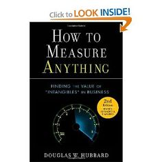 """The misconceptions are Concept, Object and Method (you can remember them as .com). The concept of measurement refers to the meaning the word """"measurement"""" is assumed to have. Some things are thought to be immeasurable only because it is believed that measurement must be some exact value. But the more pragmatic scientific approach to the term measurement is to treat it as quantified uncertainty reduction based on observation. If you have a wide range of possible values for the percentage of…"""