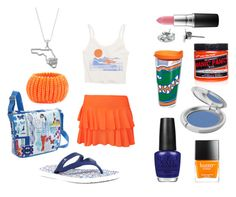 GOOO GATORS! by timetravelingfashionistas on Polyvore featuring polyvore, fashion, style, Billabong, WearAll, sanuk, Miquelrius, Amrita Singh, Dayna U, T. LeClerc, MAC Cosmetics, OPI, Butter London, Tervis, Manic Panic NYC and clothing