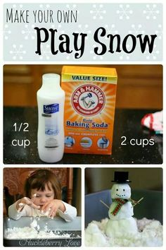 How to make your own play snow! Conditioner & baking soda