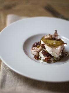#food #ricetta #ricette con #burrata e #calamari