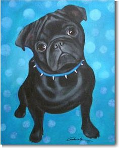 Pug Pictures, Dragon Pictures, Happy Paintings, Dog Paintings, Pug Wallpaper, Animal Line Drawings, Pugs And Kisses, Black Pug, Watercolor Animals