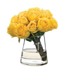 Yellow simple and modern floral arrangement