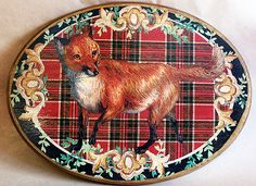 ⊰✿ tartan & plaid  .. X ღɱɧღ  || Fox Plaque Red Plaid