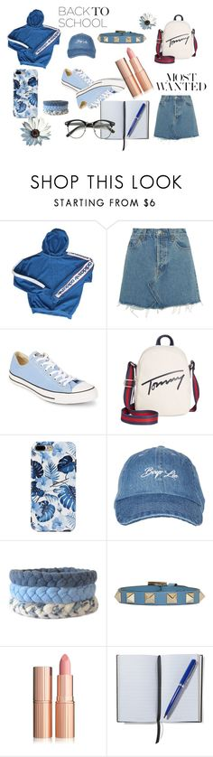 """""""Untitled #220"""" by mihaelamarula on Polyvore featuring adidas, RE/DONE, Gianvito Rossi, Converse, Tommy Hilfiger, Topshop, Valentino, Smythson and BackToSchool"""