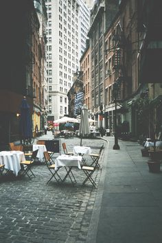 Stone Street, NYC Gonna miss this yummy place this summer...It was delicious last year!