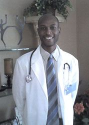 Gregory Mikell taping on location as a pediatrician in Connecticut.