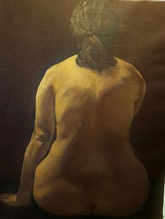 """Late 20th C., Velchev, Oil on Canvas Painting """"Nude"""""""