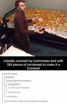 cornbread,bed