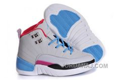 buy nike air jordan 12 kids gris azul blanco negro (jordan from reliable nike air jordan 12 kids gri