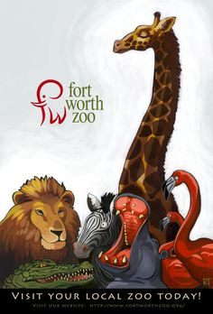 Zoo Animal Posters | Zoo Poster by Kuthinks on DeviantArt