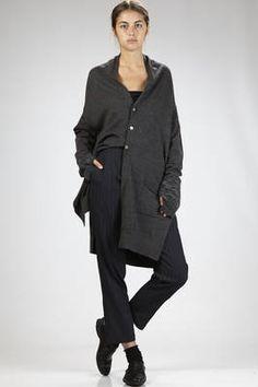 Shu Moriyama | straigth trousers in polyester cloth with irregular horizontal lines texture | #shumoriyama
