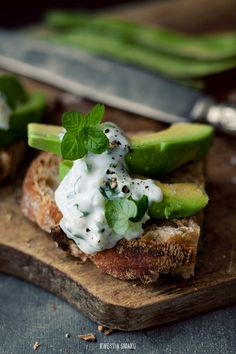 Avocado & Tzatziki Sandwich.  Perfect.