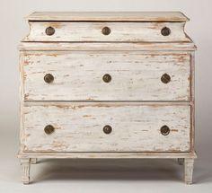 swedish three drawer chest