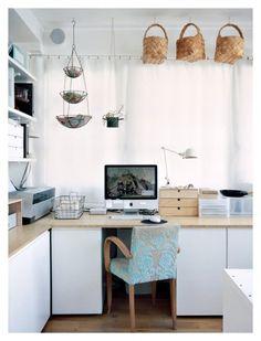 Chez Sandrine Neest..love the hanging baskets