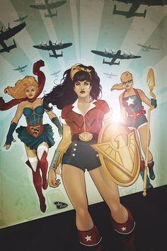 DC_COMICS_BOMBSHELLS_8 : Ahora sirviendo en el lado de los aliados como parte del programa explosivas de la Amanda Waller, Supergirl y Stargirl se preguntan si todavía están siendo utilizados como instrumentos de propaganda.  Mientras tanto, las criaturas mitológicas y las legiones de muertos vivientes de Tenebrus atacan a las fuerzas aliadas, con lo que la Mujer Maravilla en la refriega.  ¿Puede contar con los más nuevos explosivas para ayudar? | masacre80