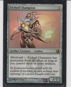Magic the Gathering MTG Etched Champion SOM Rare NM