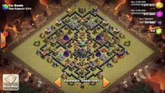 Clash of Clans | 4th mortar Th9 layout + War Base