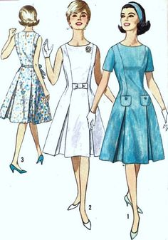 1960s Misses Princess Dress Vintage Sewing by MissBettysAttic