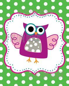 Owl Digital Art Printable 8x10 or 11x14 DIY by APlumHoot on Etsy, $4.50
