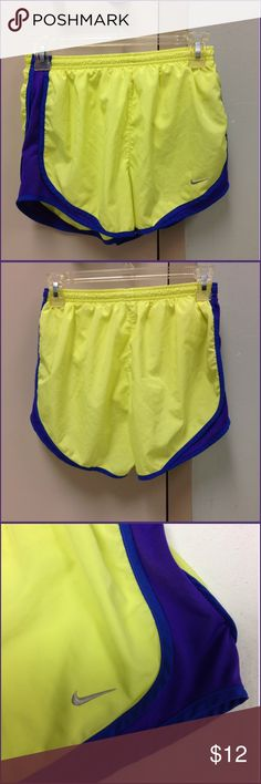 🌴NEW LISTING🌴 Nike Dri-Fit Shorts Yellow, Purple and Blue. Dri-fit. Underpants. Drawstring. Size S. (7/26) Nike Shorts