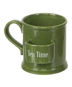 Loving this Green 'Tea Time' Mug on #zulily! #zulilyfinds