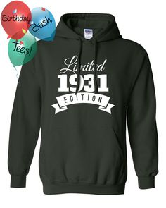 1931 Birthday Hoodie 85 Limited Edition by BirthdayBashTees
