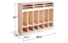 Toddler Cubby Dimensions