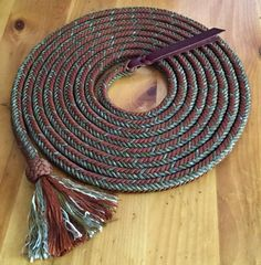"5/8"" 12 strand 22' Custom made Paracord mecate Copperhead/Copper"