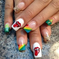 billy820nails st patrick's day #nail #nails #nailart