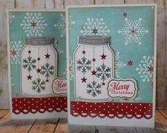 Handmade Merry Christmas Snowflakes in Jar by ScrapbookingCottage, $2.50