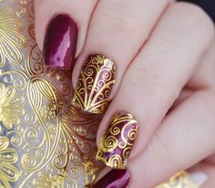 1 Sheet Embossed Flower 3D Nail Stickers #BP052 # 24911