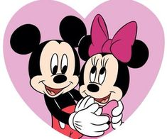 Mickey Mouse and Minnie Mouse Arte Do Mickey Mouse, Minnie Mouse Cartoons, Mickey And Minnie Love, Mickey Mouse And Friends, Disney Cartoons, Retro Disney, Cute Disney, Disney Art, Walt Disney