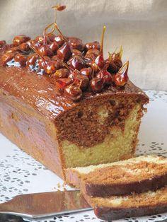 """Ma sœurette m'a parlé de ce cake déniché sur le site professionnel """"le meilleur du chef"""" pour renouveler le traditionnel marbré au chocolat..."""