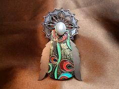 Art Deco angel brooch by JustTCsgirlscrafting on Etsy, $17.50